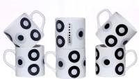 Pearl Ana-Cup Bone China Mug (180 Ml, Pack Of 6)