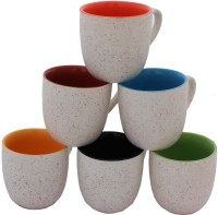 AARZOOL Dual Tone Tea Cups Ceramic Mug (200 Ml, Pack Of 6)