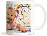 Rockmantra Plates & Tableware Rockmantra Cute Baby Paint Ceramic Mug