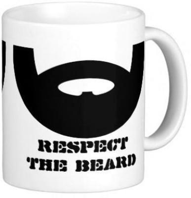Sadigali Respect Beard Printed  Ceramic Mug