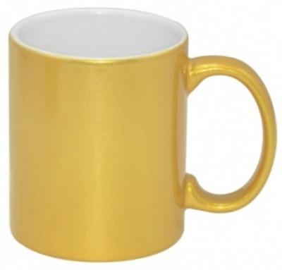 Lolprint 1 Golden Ceramic Mug