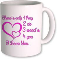 Photogiftsindia I Love You Gifts For Happy Valentine Day Mug (White, Pack Of 1)