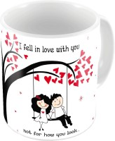 Home India Fancy Design Printed Cute Coffee S Pair 647 Ceramic Mug (300 Ml, Pack Of 2)