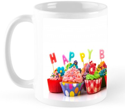 GODIGITO Cup Cakes Birthday Gift Coffee  Ceramic Mug