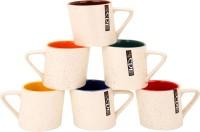 Khurja Crockriz Stylish Ceramic Mug (100 Ml, Pack Of 6)
