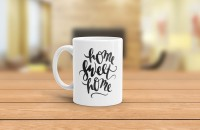 Slimthread Home Sweet Home  Ceramic Mug (350 Ml)