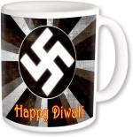PhotogiftsIndia Plates & Tableware PhotogiftsIndia Swastik In Ring With Happy Diwali Coffee Ceramic Mug