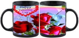 Shoperite happy valentines day wishes in lover rose Ceramic Mug