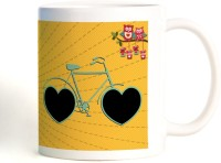 ShopMantra Love Makes A Beautiful Ride Mug (White, Pack Of 1)