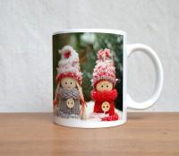 StyBuzz Winter Dolls Christmas Ceramic Mug (300 Ml)
