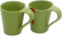 Tibros Stoneware-TB-3030 Ceramic Mug (170 Ml, Pack Of 2)