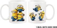 Ameek MINIONS CARTOON DESIGNER PRINTED Ceramic Mug (325 Ml)