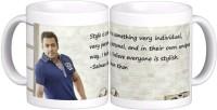 Exoctic Silver Salman Khan Quotes X015 Ceramic Mug (300 Ml)