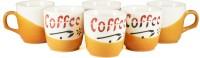 PUNCHAM Coffee Star 8D Ceramic Mug (100 Ml, Pack Of 6)