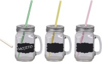 Platex Classy Mason Jar Glass Mug (450 Ml, Pack Of 3)