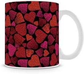 Saledart Mg408-Awesome And Beautiful Many Hearts Shape Background Wallpaper Ceramic Mug
