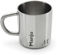 Hot Muggs Me Classic  - Manju Stainless Steel Mug (200 Ml)