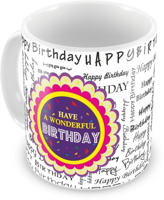Everyday Gifts Plates & Tableware Everyday Gifts Happy Birthday Gift For Wonderful Birthday Ceramic Mug