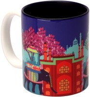 The Elephant Company  Elephant Savari Ceramic Mug (180 Ml)