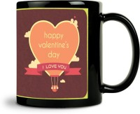 ShopMantra Where There Is Love Parachute Heart Mug (Black, Pack Of 1)