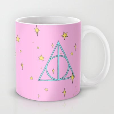 Astrode Plates & Tableware Astrode Harry Potter Pastel Deathly Hallows Ceramic Mug