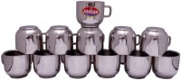 Sansar Tea  Stainless Steel Mug (550 Ml, Pack Of 12)