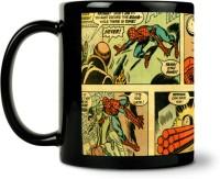 ShopMantra Spiderman In Action Comic Ceramic Mug (300 Ml)