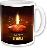 PhotogiftsIndia Plates & Tableware PhotogiftsIndia Traditional Diya With Happy Diwali Coffee Ceramic Mug