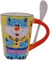 Aarzool 3d Cat Mug With A Spoon Mug - Multicolor, Pack Of 1