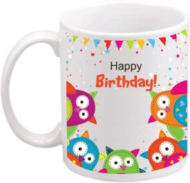 ONLY OWL Gift Happy Birthday Coffee OWL755 Ceramic Mug