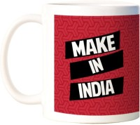 ShopMantra Make In India White  Ceramic Mug (300 Ml)