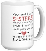 Fantaboy Plates & Tableware Fantaboy You And I Are Sisters Ceramic Mug