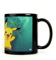 Shoprock Pokemon Pikachu Mug (Black, Pack Of 1)