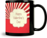 ShopMantra Retro Love Design Mug (Black, Pack Of 1)