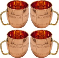 Elite Handicrafts Copper Moscow Mule Vodka Buck Drinkware Copper Mug (500 Ml, Pack Of 4)
