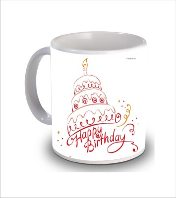 Psk Happy Birthday Cake b39 Ceramic Mug