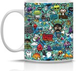 Bigzoo Plates & Tableware Bigzoo Comic Ceramic Mug