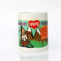 Chumbak Yogi Love Mug Multi Colour, Pack of 1