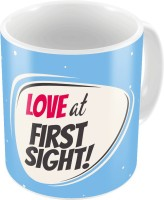 Home India Blue Designer Romantic Printed Coffee S Pair 707 Ceramic Mug (300 Ml, Pack Of 2)