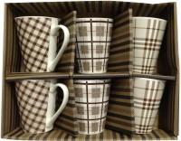 Blue Birds Coffee  Set Porcelain, Ceramic Mug (150 Ml, Pack Of 6)