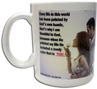 Rcube Couple With Quotes Ceramic Mug (500 Ml)