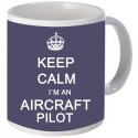 Snoogg Keep Calm im an Aircraft Pilot Porcelain Bone China Coffee Mug - White, Pack of 1