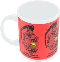 PosterGuy War On Education Graphic Design Illustration Ceramic Mug (280 Ml)