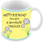 "Everyday Gifts Plates & Tableware Everyday Gifts Happy Birthday ""Wonderful Teacher"" Ceramic Mug"