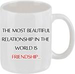 Elli Gifts Plates & Tableware Elli Gifts World is friendship coffee mug Ceramic Mug