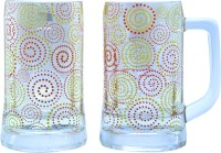 The Elephant Company Beer Polka Paisley Glass Mug (355 Ml, Pack Of 2)