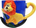 Returnfavors 3D Tiger Hand-Crafted Blue Coffee Mug - Multicolor, Pack Of 1