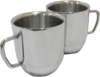 Marvel Cute Stainless Steel Mug (200 Ml, Pack Of 2)