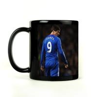 Shoprock Fernando Torres Mug (Black, Pack Of 1)