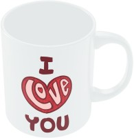 PosterGuy I Love You Red Valentine's Day Coffee Ceramic Mug (280 Ml)